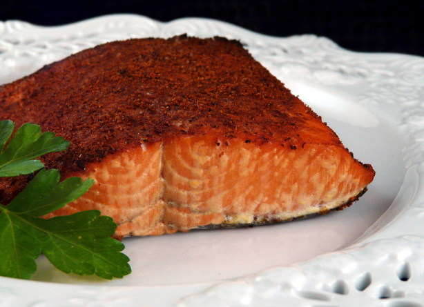 Spice Plank-Grilled Salmon