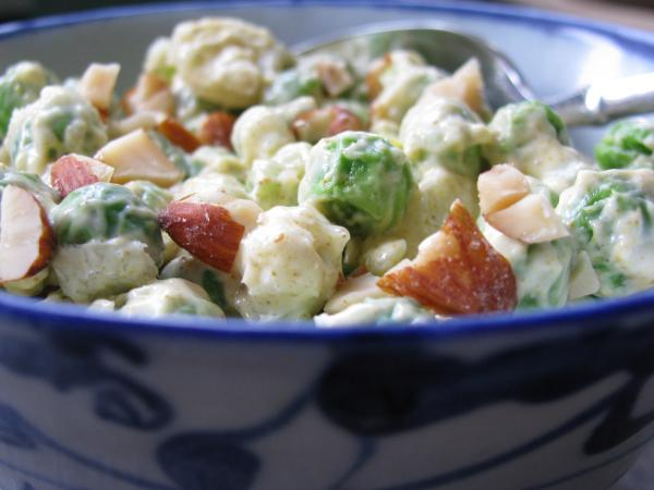 Curry Pea Salad With Almonds