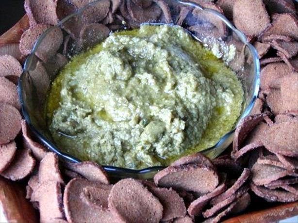 Chickpea Pesto Dip (or Pesto Hummus Dip)
