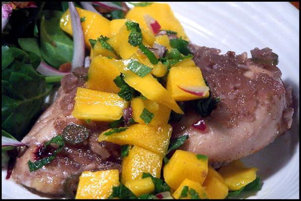 Spiced Rum-Sugar Chicken With Mango Mojito Salsa