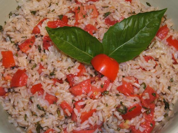 Brown Rice, Tomatoes, & Basil