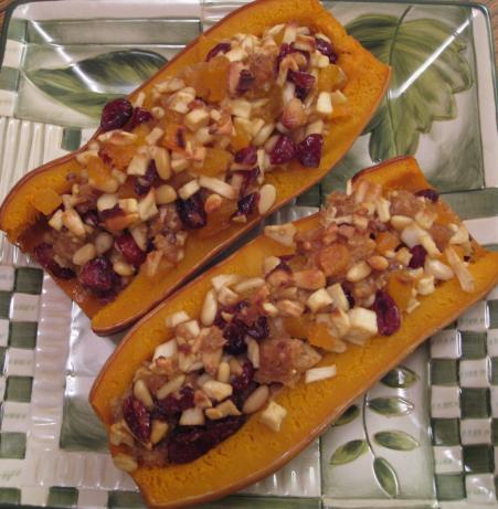 Delicata Squash Stuffed With Dried Fruit and Nuts