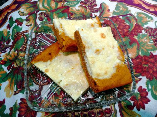 Diabetic Pumpkin Cream Cheese Squares