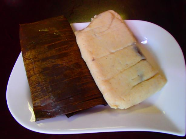 Pork Tamales in Banana Leaves (Tamales Con Puerco)