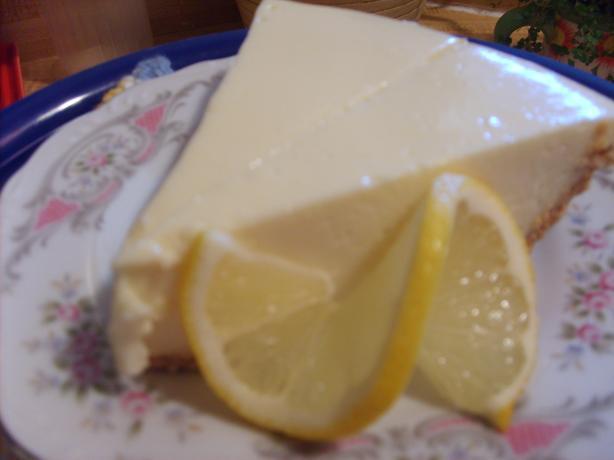 Jen's Uncooked Lemon Cheesecake