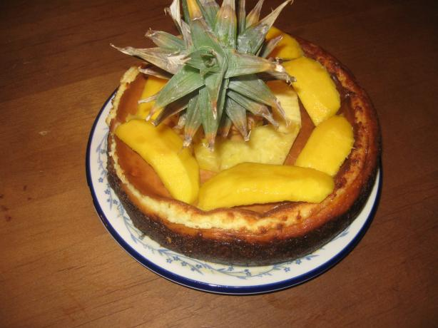 Mango Pineapple Lime Cheesecake