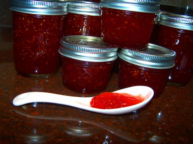 Red Hot Pepper Jam for Those That Like It Real Hot!!!!!!!!!!