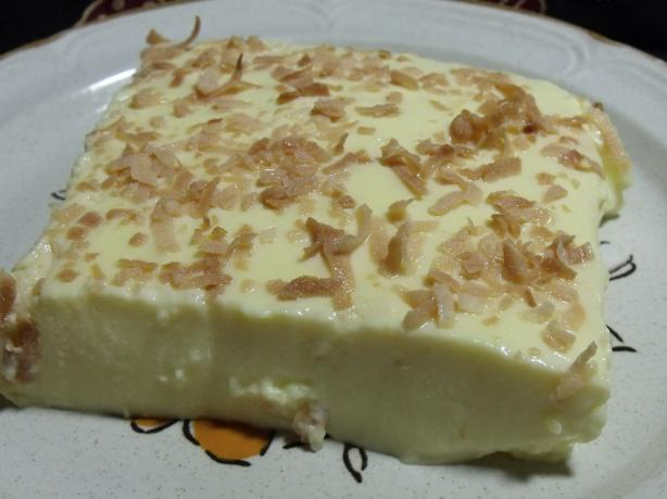 Lemon-Coconut Sugar-Free No Bake Jell-O Cheesecake