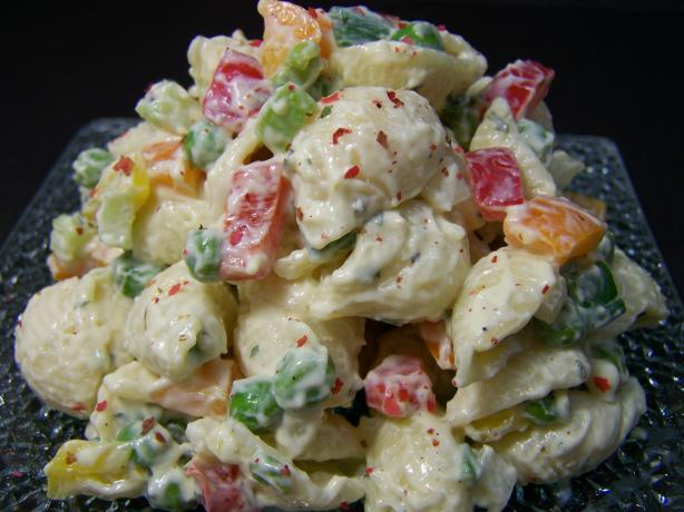 Macaroni Salad With Bacon, Peas, and Creamy Dijon Dressing