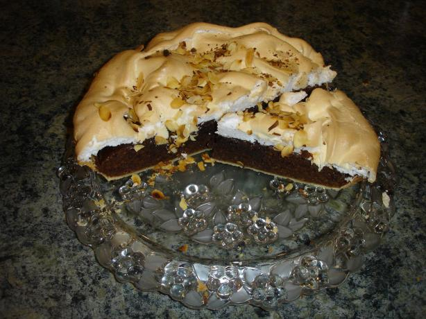 Chocolate & Almond Tart With Meringue Top
