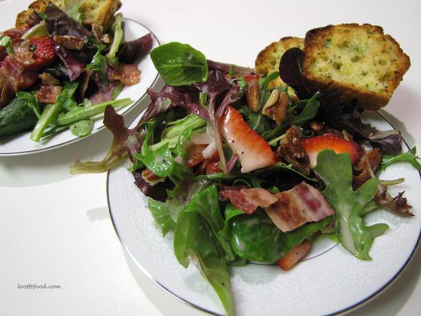 Strawberry Bacon Romaine Salad