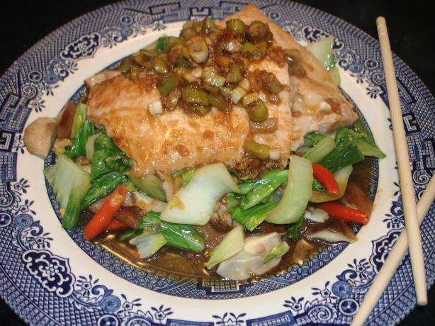 Salmon Bulgogi With Bok Choy and Mushrooms