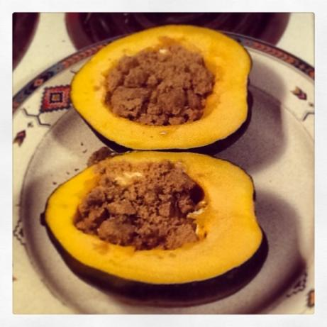 Acorn Squash Microwave Baked