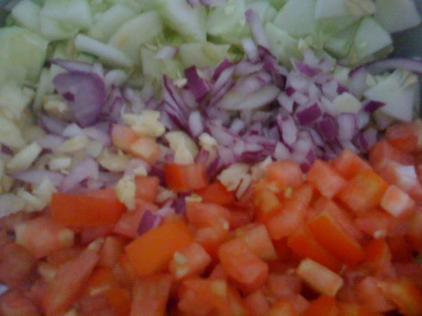"Salat Katzutz - ""chopped Salad"" (Israeli Salad)"