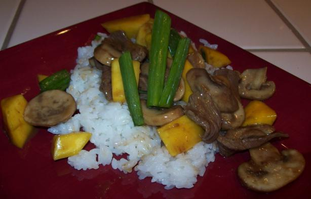 Beef Teriyaki With Mango