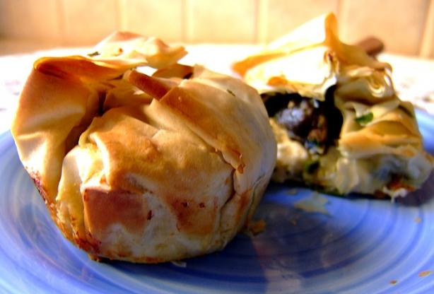 Escargots With Feta in Phyllo Pastry