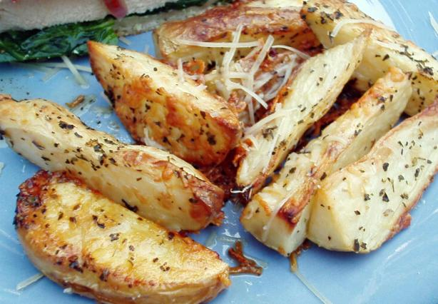 Baked Italian Potato Wedges
