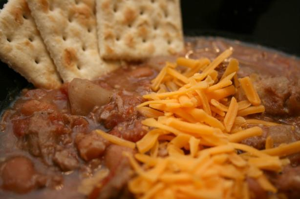Cowboy and Indians Soup - Chuck Wagon Chili Crock Pot