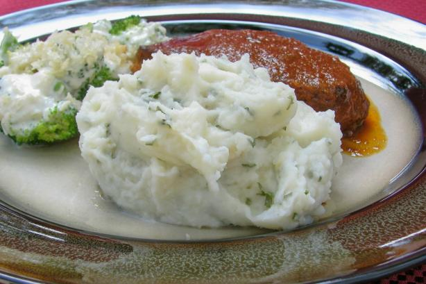 Mashed Potatoes and Garlic and Herb Mashed Potatoes