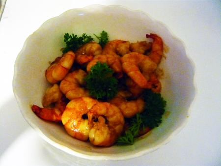 Crisp King Prawns With Honey Garlic Sauce