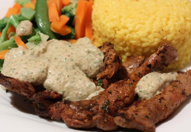 Smoked Paprika Lamb With Eggplant Aioli