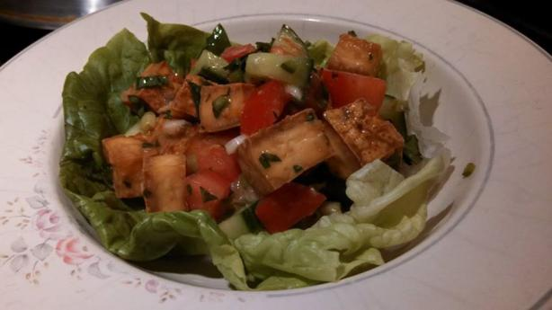 Asian Lime and Herbed Tofu in Lettuce Cups
