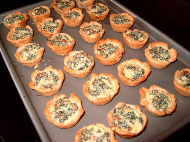 Tiny Spinach Quiches