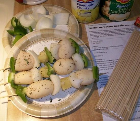 Barbecue Potato Kabobs