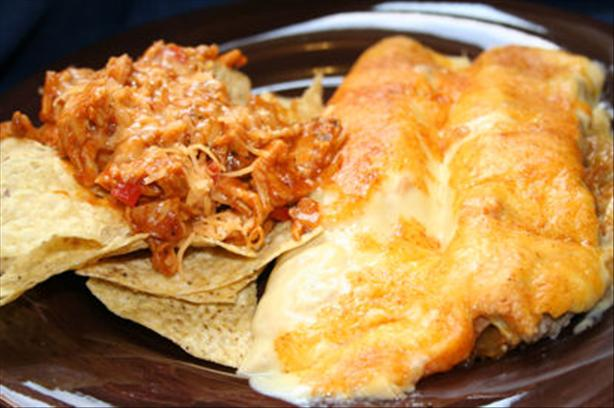 Shredded Barbecue Chicken and Chips