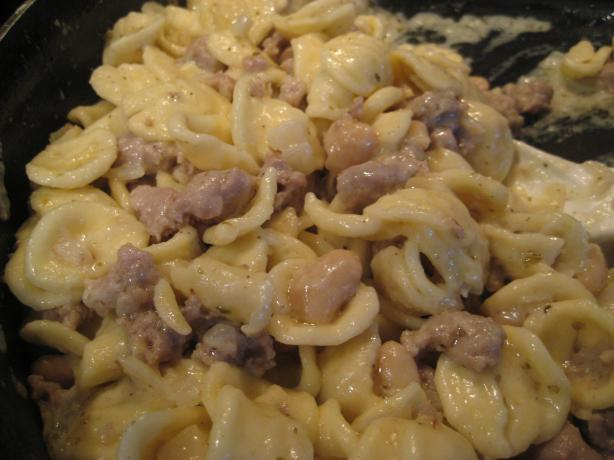 Orecchiette With Sausage, Beans, and Mascarpone