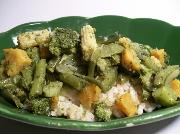 Coco-Banana's Thai Green Vegetable Curry
