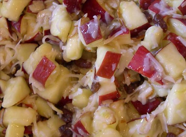 Old Fashioned Apple Salad With Cooked Dressing