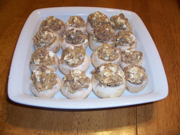 Grecian Style Stuffed Mushrooms