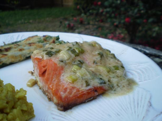 Salmon With Wine Mustard Sauce