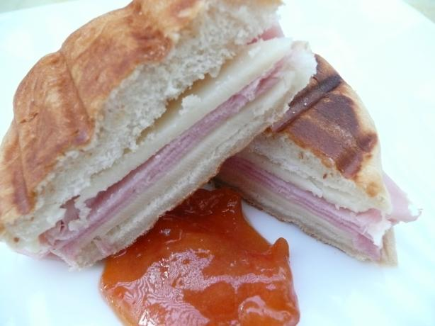 Ham and Manchego Panini With Dipping Sauce