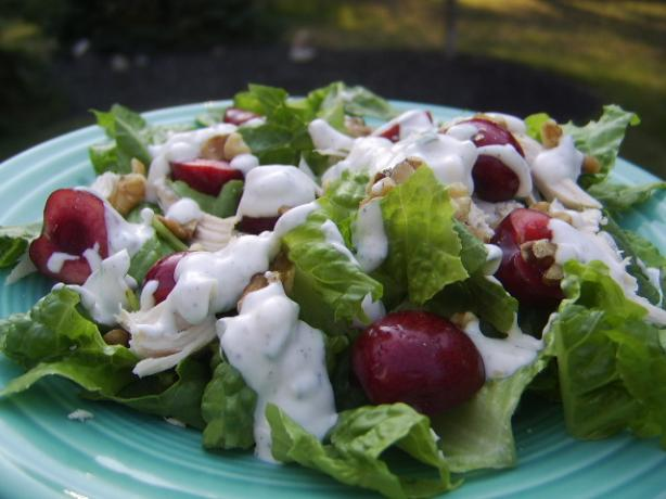 Seared-Chicken Salad With Cherries and Goat-Cheese Dressing