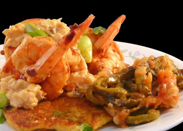 Chipotle Shrimp With Corn Cakes (Zwt Usa Southwest)