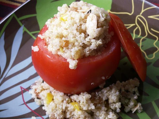Quinoa and Raisin Salad Stuffed Tomatoes