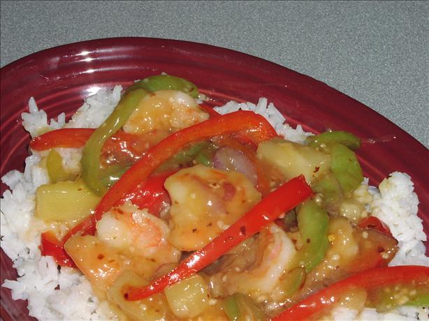 Sweet and Sour Stir-Fried Shrimp