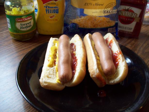 Easy Cheesy Hot Dogs