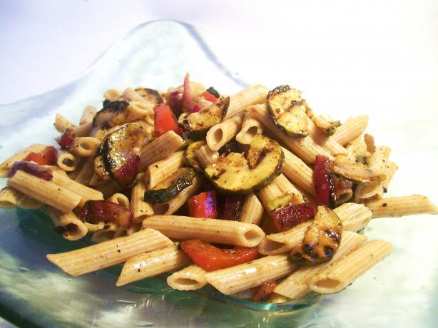 Zesty Grilled Zucchini Pasta Salad