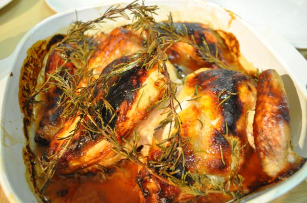 Chicken Legs With Honey and Rosemary