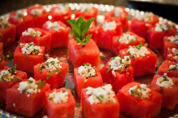 Fresh Watermelon & Mint Salad With Feta