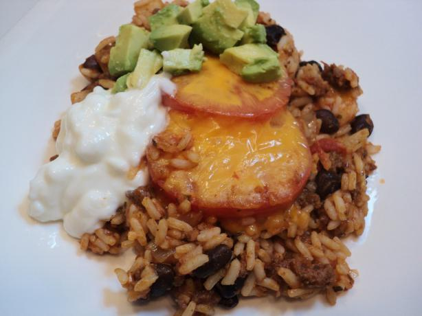 Mexican Rice Casserole With Ground Beef