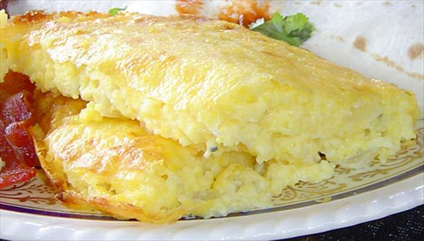 Mexican Cheese Grits Souffle