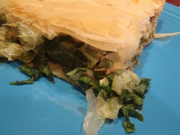 Greek Spinach & Herb Pie (Without Cheese) A.k.a. Spanakopita