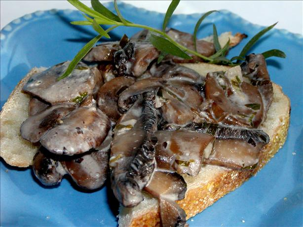 Creamed Mushrooms on Toast
