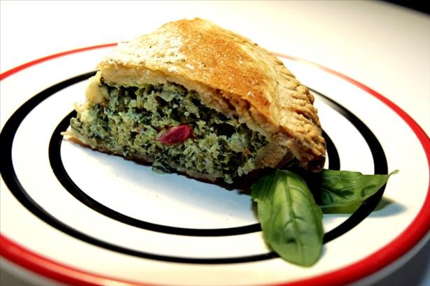 Fresh Spinach & Basil Pie