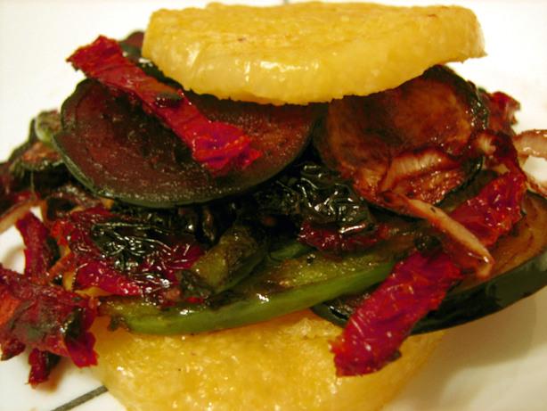 Grilled Polenta Veggie Sandwich