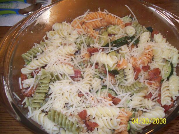 Zucchini-Bacon Pasta Toss